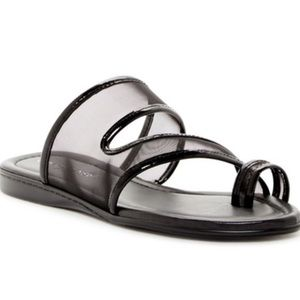 NWOB DONALD J PLINER BEST MESH LOOP TOE SANDALS